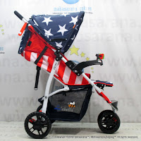 Junior L'abeille A503 3-Wheeler Baby Stroller