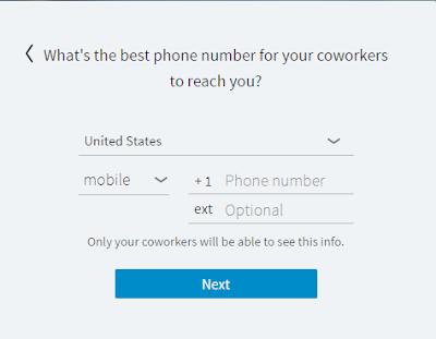 Linkedin Lookup: Registration Step 3