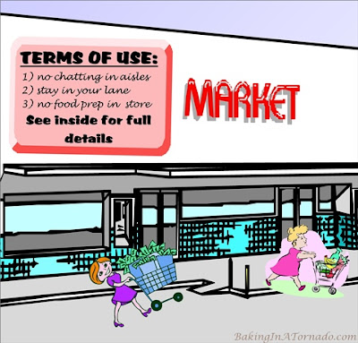 Supermarket Games, we all play them, but what are the rules? | Graphic property of www.BakingInATornado.com | #funny #humor