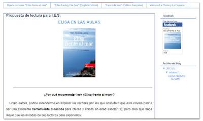 """Propuesta de lectura para I.E.S., """"Elisa frente al mar"""""""