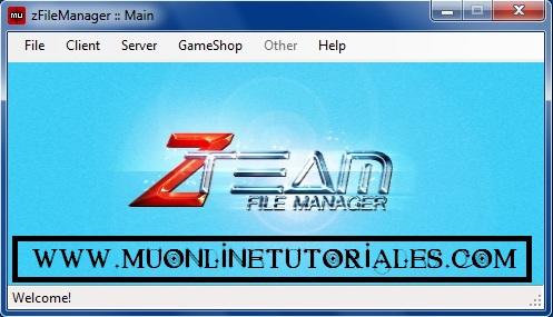 Interfaz de la aplicacion Zteam