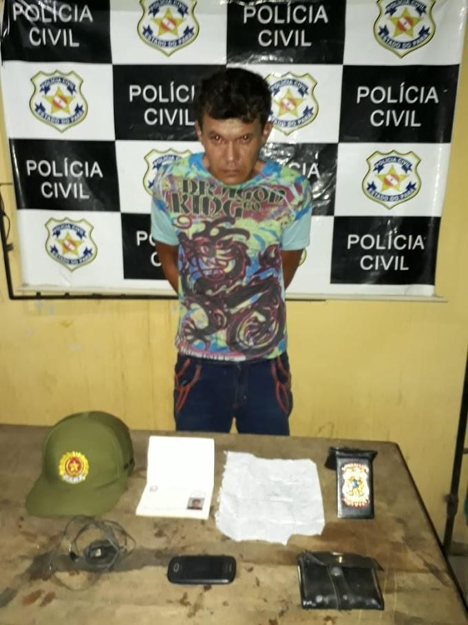 ACUSADO DE PEDOFILIA É PRESO PELAS POLICIAS CIVIL E MILITAR EM ALENQUER.