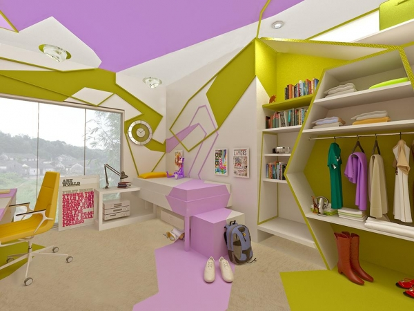 Um radical quarto teen design innova for Bedroom ideas for 8 yr old girl