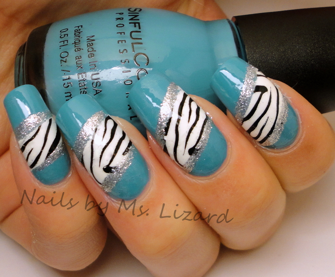Nails by Ms. Lizard: Zebra print nails
