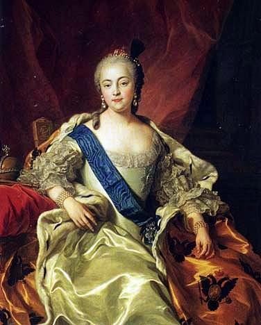 Elizabeth of Russia by Charles-André van Loo, 1760