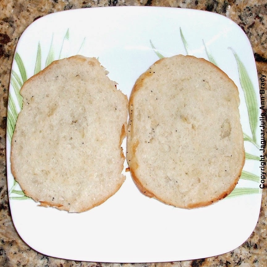 #2 - Slice your roll in half.