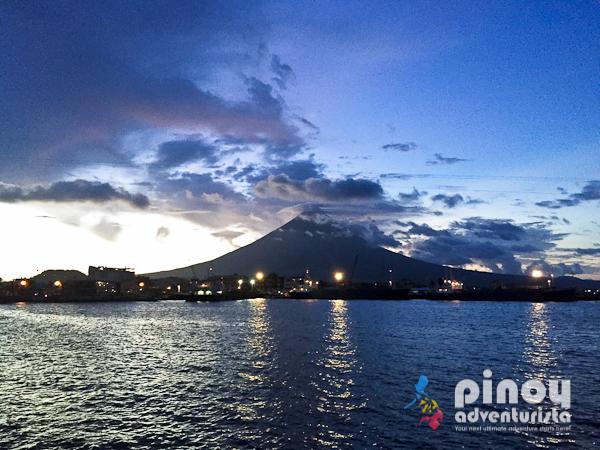 Mayon Volcano at dusk in Legazpi City Albay
