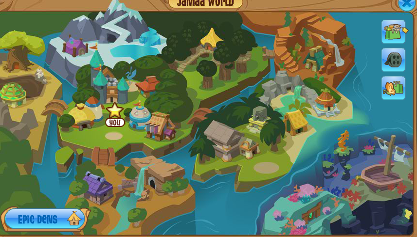 Animal Jam Map Animal Jam: The Jamaa Map