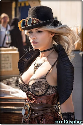 Cosplay steampunk sexy girl.