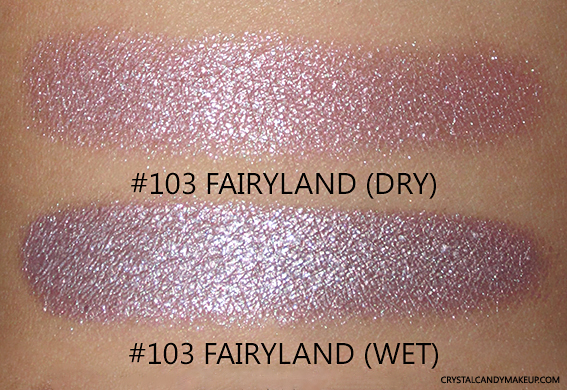 PUPA Milano Vamp! Wet & Dry Eyeshadows Review 103 Fairyland Swatch