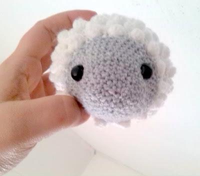 Crochet amigurumi lamb sheep head