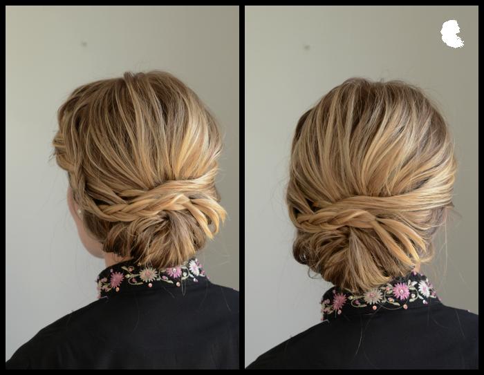 back view of braid chignon