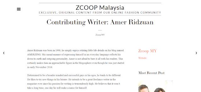 I'm a Zalora ZCOOP Contributor