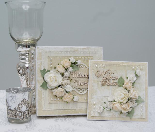Z białą różą na ślub