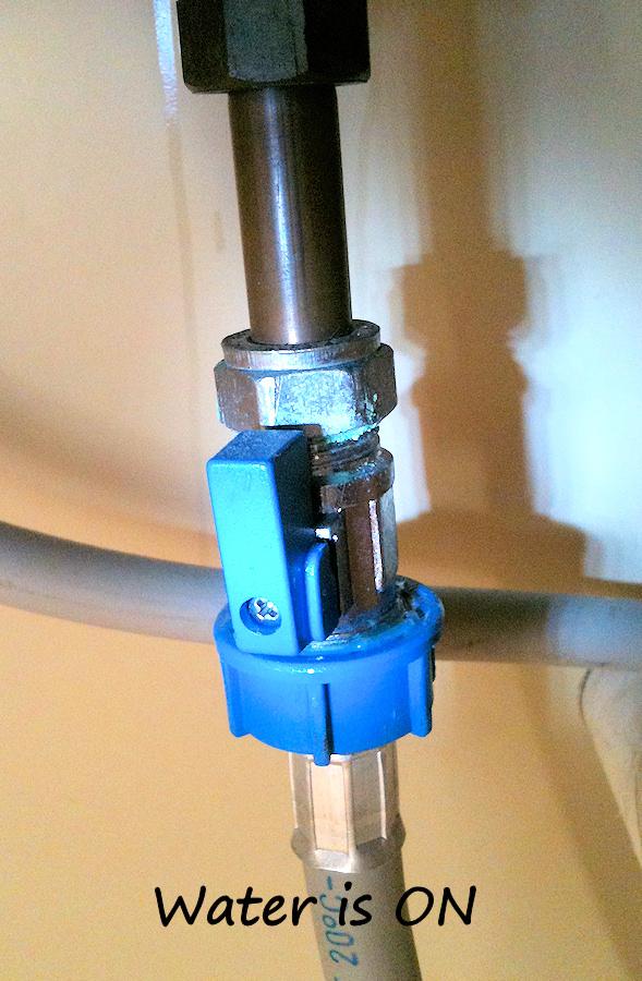 Water Valves Under Kitchen Sink