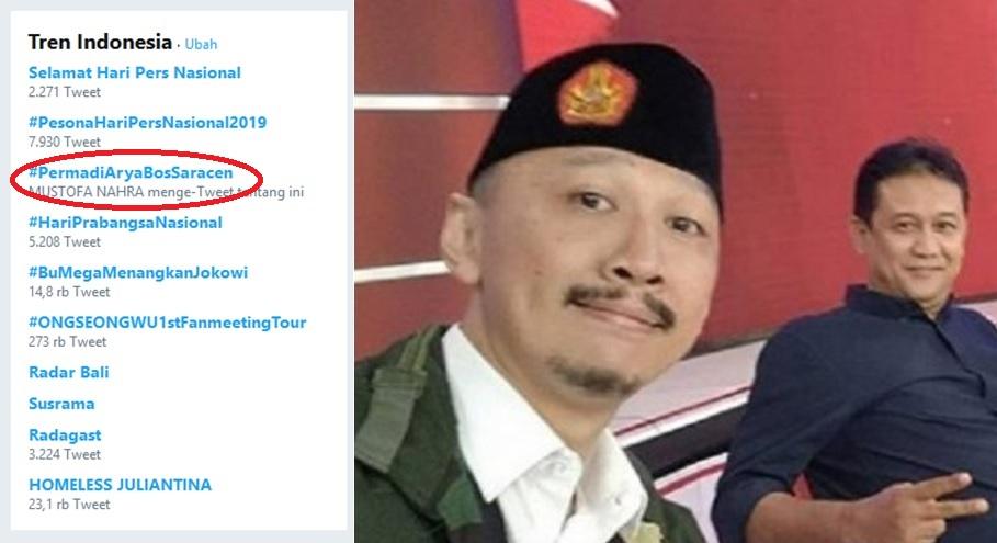 #PermadiAryaBosSaracen Jadi Trending Topic, Polri Diminta Periksa Abu Janda