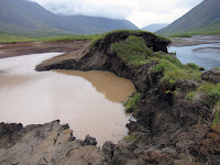 Thawing permafrost in Gates of the Arctic National Park in Alaska. (Credit: U.S. National Park Service) Click to Enlarge.