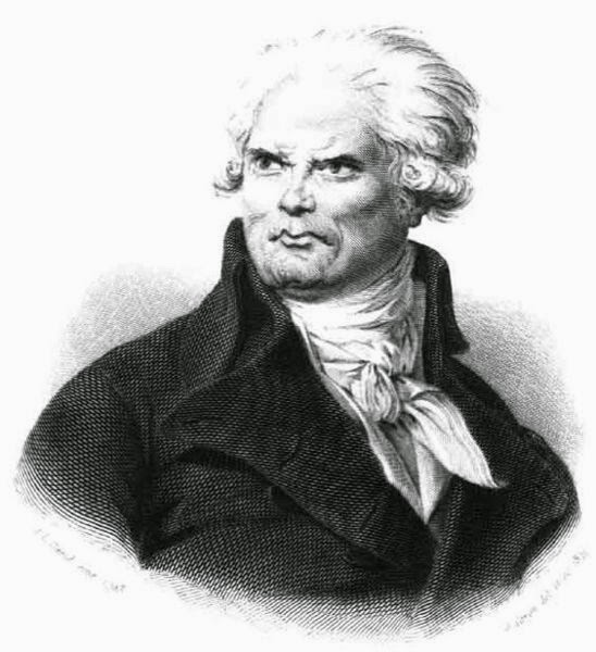 Georges-Jacques Danton by Caron after painting by Jacques-Louis David, 1841