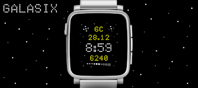 Galasix watchface - Pebble Time / Time Steel