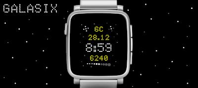 Galasix watchface - Pebble Time / Time Steel