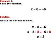 MATH SHARING IDEAS: 7th & 8th GRADE: SOLVING EQUATIONS.