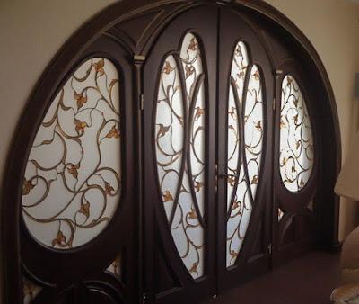 Витраж в двери Тиффани - Волгоград