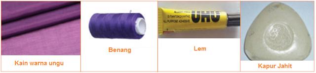 Bahan yang diperlukan untuk membuat kerajinan tekstil tas