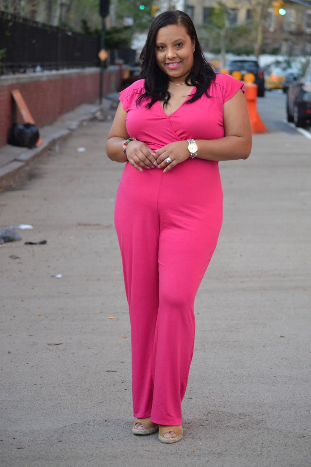 Pink Wide Leg Jumpsuit