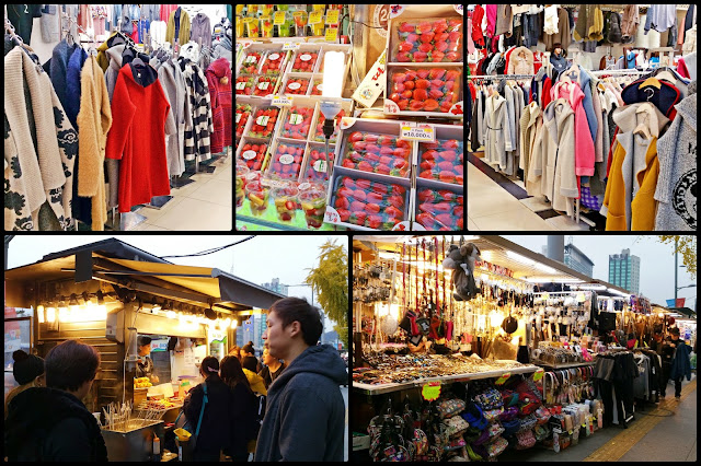 Stalls along Dongdaemun Street and fashion stores inside the mall. | www.meheartseoul.blogspot.sg