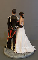 modellini sposi artistici su richiesta modellati a mano scultura artigianale orme magiche