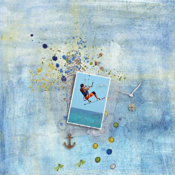 kitesurfing © sylvia • sro 2017 • created by jill • beach trip