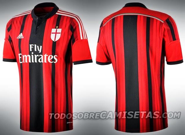 74c595ff05 Nueva Indumentaria del AC Milan para la 2014 2015
