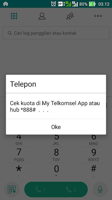 Cek Kuota Bonus Telpon, SMS dan Kuota Internet Telkomsel 2017