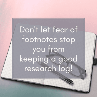 research logs don't require formatted sources