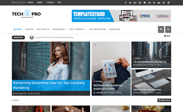 Download Free Premium Tech Pro News Magazine Blogger Template