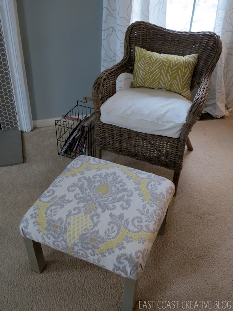 chair and new ottoman