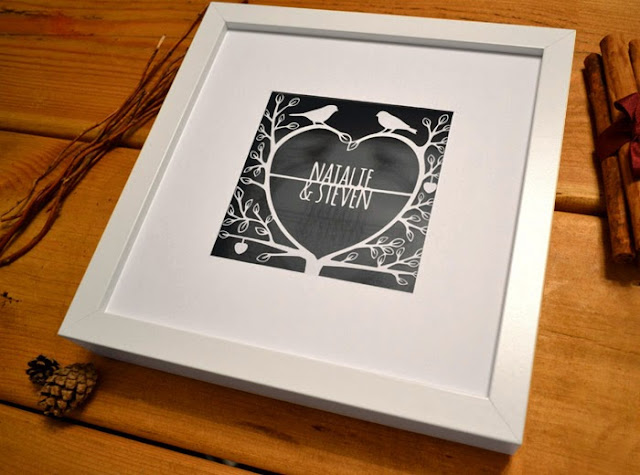 love tree romantic papercut