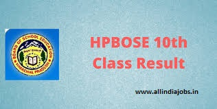 HPBOSE 10th Results