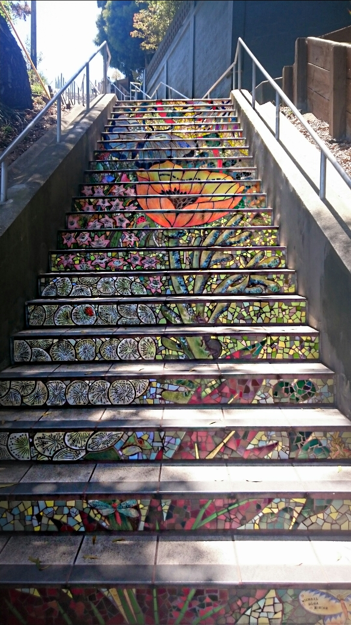 Flower Mosaic Hidden Steps San Francisco