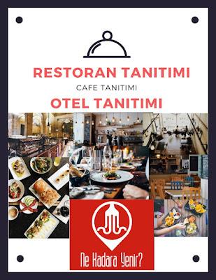internette restoran tanitimi cafe otel reklam