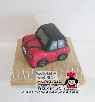 Kue Tart 3d Bentuk Mobil Mini Cooper