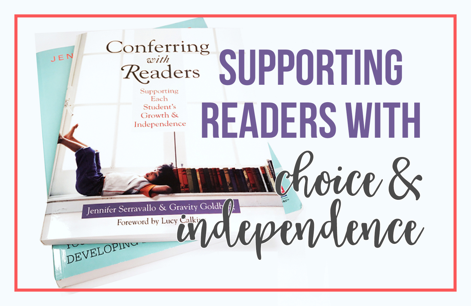 Conferring with Readers is the best friend of The Reading Strategies Book.  TRSB is the what, but this book is the how.  A must have for any teacher wanting to teach students through choice and independence.