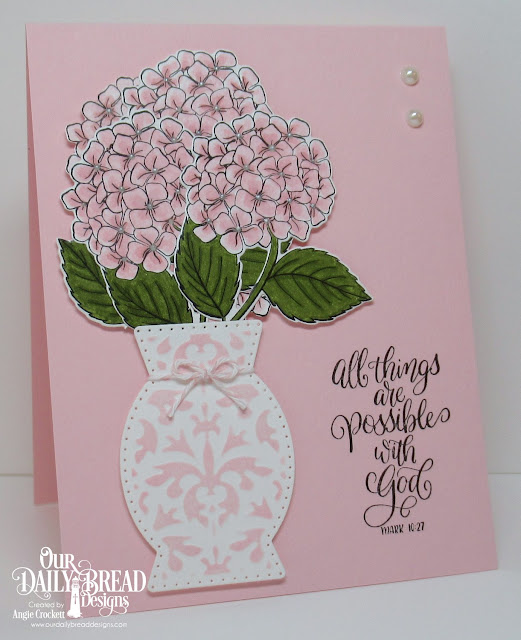 ODBD In My Heart Stamp/Die Duos, ODBD Custom Decorative Vase Die, Card Designer Angie Crockett
