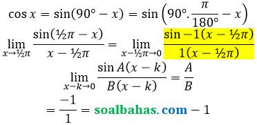 bahas limit cos per x