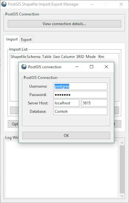 Koneksi PostGIS ke Database