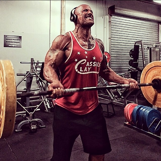 dwyane johnson biceps workout