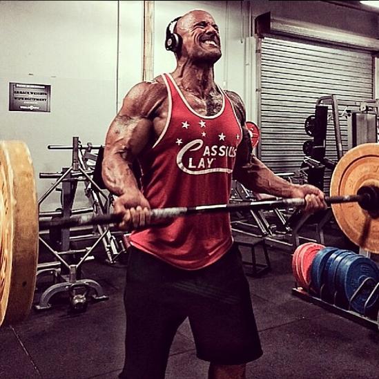 dwyane johnson biceps workout