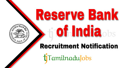 RBI recruitment 2021, RBI Notification 2021