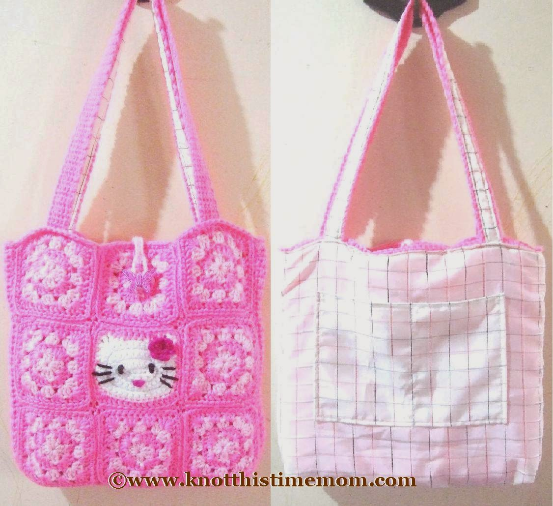 Hello Kitty Crochet Granny Square Bag