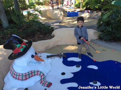 Blizzard Beach summer mini golf course
